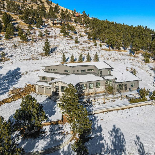 Custom Mountain Home - Home Arial View