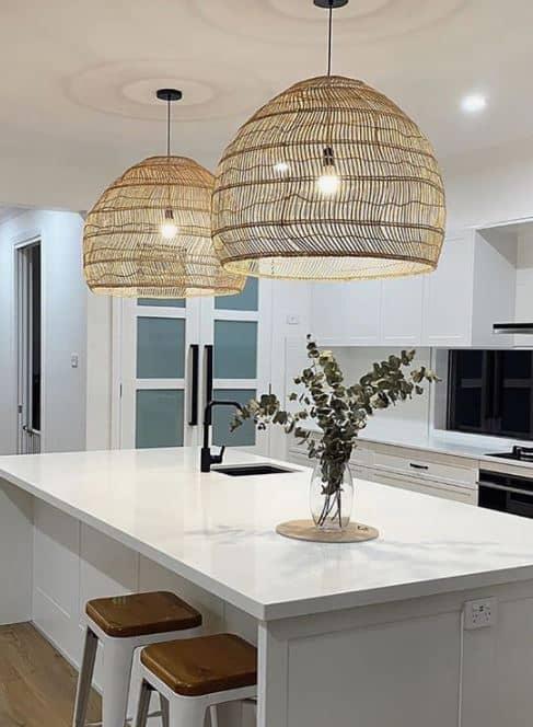 Melton Design Build Kitchen Remodel Organic Light Fixture